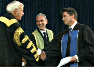 Honorable David Peterson, Chancellor of University of Toronto with Robert Fotheringham